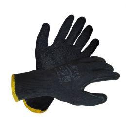 Rękawice ochronne powlekane lateksem GLOPER extra black