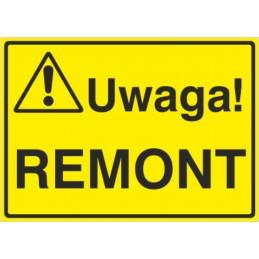 Tablica: Uwaga! Remont