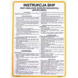 Instrukcja BHP przy obsłudze wózków widłowych (sztaplarek)