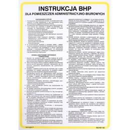 Instrukcja BHP dla pomieszczeń administracyjno-biurowych