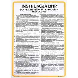 Instrukcja BHP dla pracowników zatrudnionych w magazynie