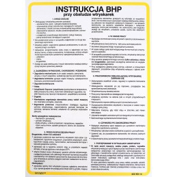 Instrukcja BHP przy obsłudze wtryskarek