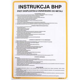 Instrukcja BHP przy ekspoloatacji zgrzewarki do metalu