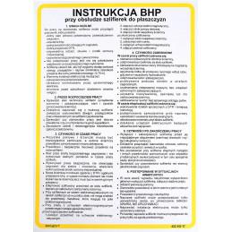 Instrukcja BHP przy obsłudze szlifierek do płaszczyzn