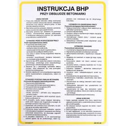 Instrukcja BHP przy obsłudze betoniarki