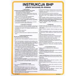 Instrukcja BHP pilarki tarczowej do drewna
