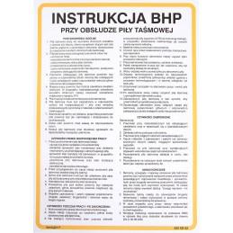 Instrukcja BHP przy obsłudze pił taśmowych