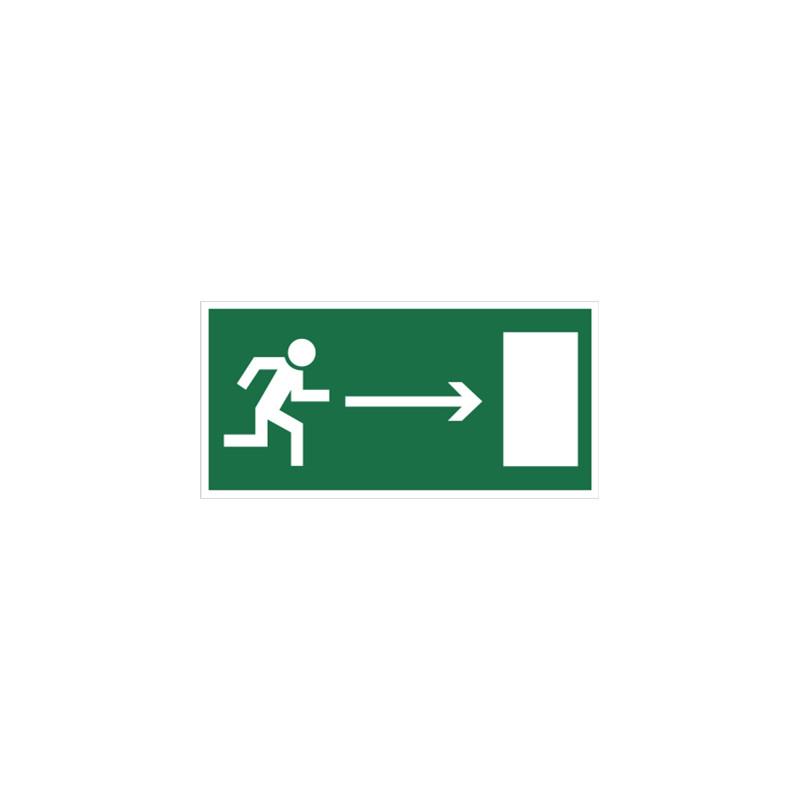 Kierunek do wyjścia drogi ewakuacyjnej (w prawo)