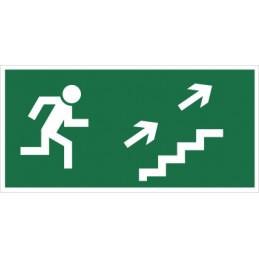 Kierunek do wyjścia drogi ewakuacyjnej schodami w górę (na prawo)