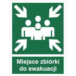 Znak: Miejsce zbiórki do ewakuacji