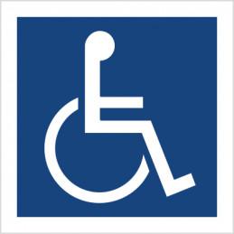 Znak: Miejsce dla inwalidów na wózkach