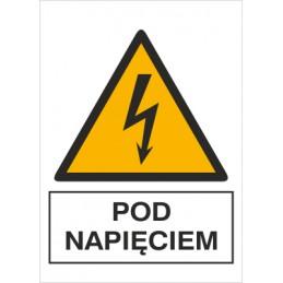 Znak: pod napięciem