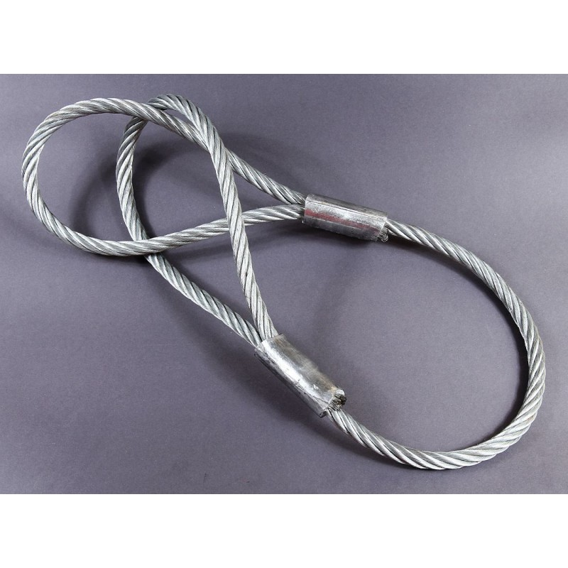 Zawiesie linowe jednocięgnowe typu F DOR/WLL: 2,5/2,0 T