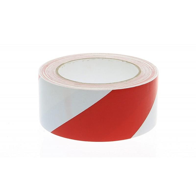 Taśma ostrzegawcza samoprzylepna biało - czerwona długość 33 m