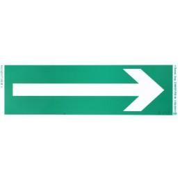 Tablica ewakuacyjna: kierunek drogi ewakuacyjnej