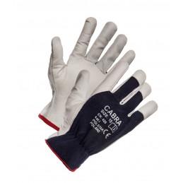 Rękawice ochronne CABRA wzmacniane skórą