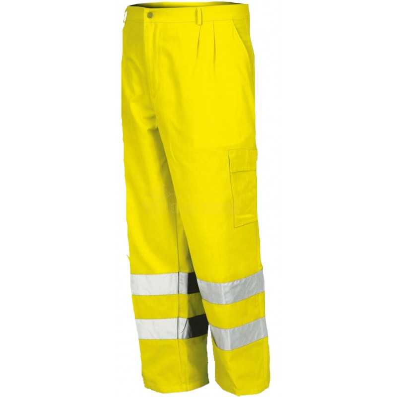 Spodnie robocze do pasa odblaskowe