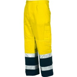 Spodnie robocze do pasa odblaskowe dwukolorowe