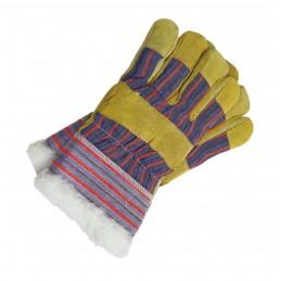 Rękawice ocieplane wzmacniane skórą RSO